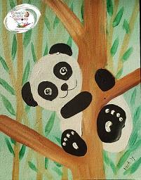 Playful Panda Peaceful Palette Painting