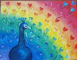 Peaceful Palette Rainbow Peacock